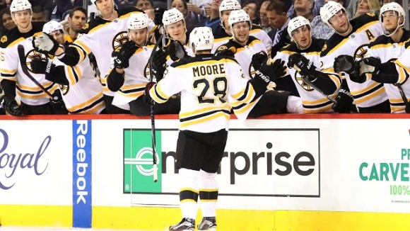 NHL: Boston Bruins at Winnipeg Jets